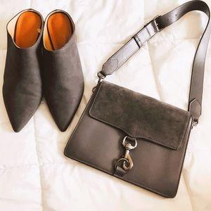 Rebecca Minkoff suede and leather shoulder bag